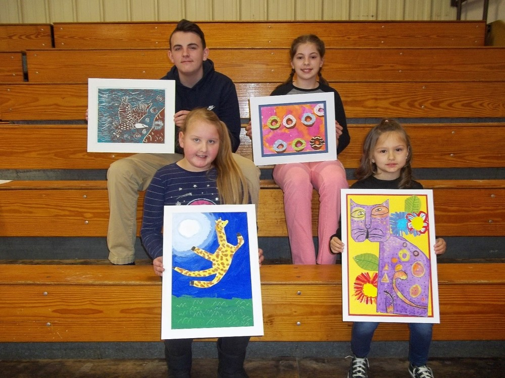 Glenwood Students' Artwork Displayed at the State Capitol