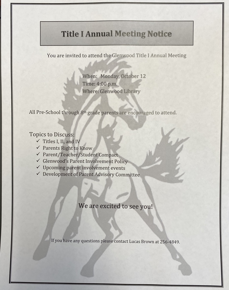 Annual Title 1 Meeting Notice