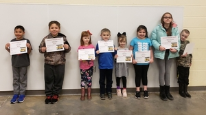 Glenwood School Awards February Bus Riders of the Month