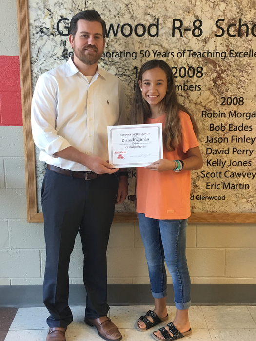 Student of the month, Diana Kaufman