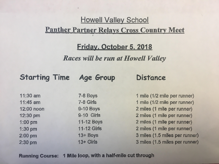 Panther Relays schedule 2018