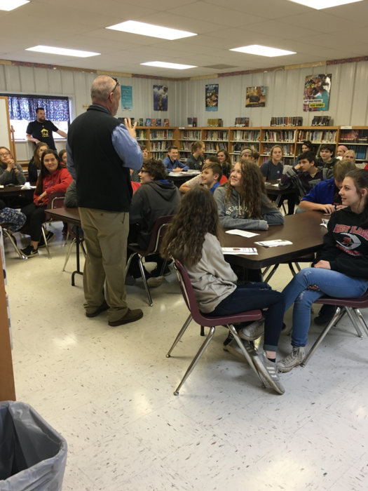 8th grade meeting with area high schools