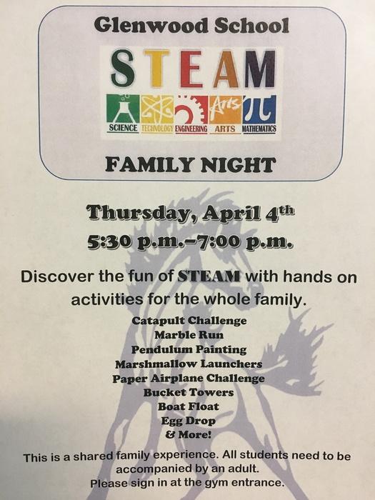 STEAM Night 2019 flyer