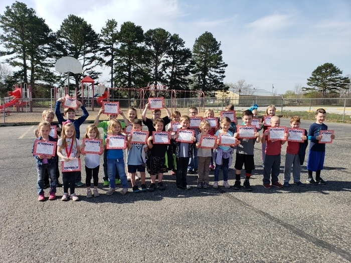 March perfect attendance recipients 2019