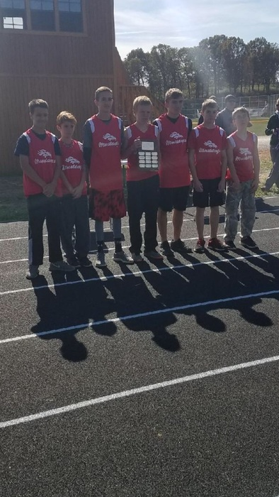 Senior boys cross country team take first!