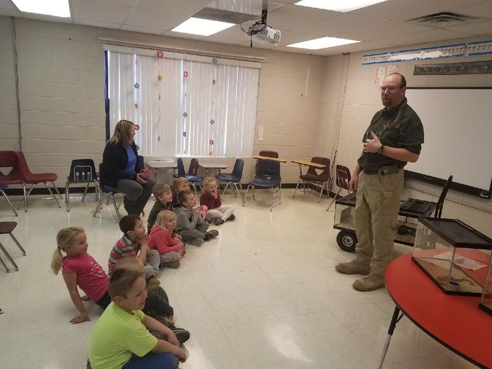 Ozark snakes presentation with Mr. Kantola